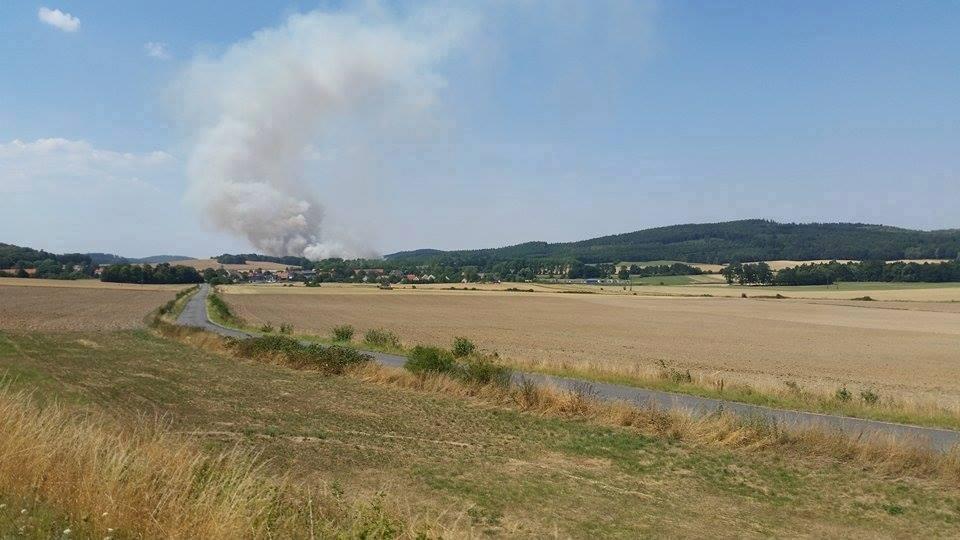 Palił się las. Ogień gasił samolot