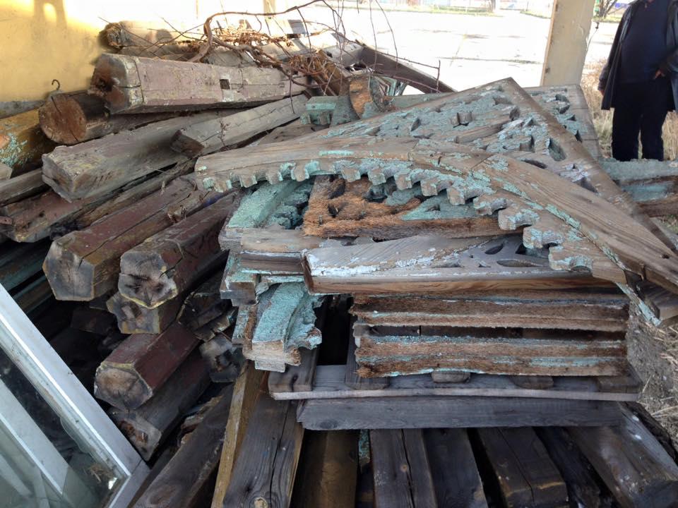 Elementy wieżyczki zostały zniszczone (FOTO)