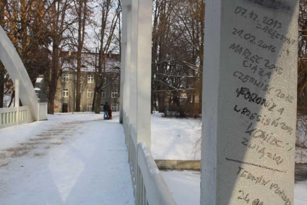 Popisali most w Parku Centralnym (FOTO)