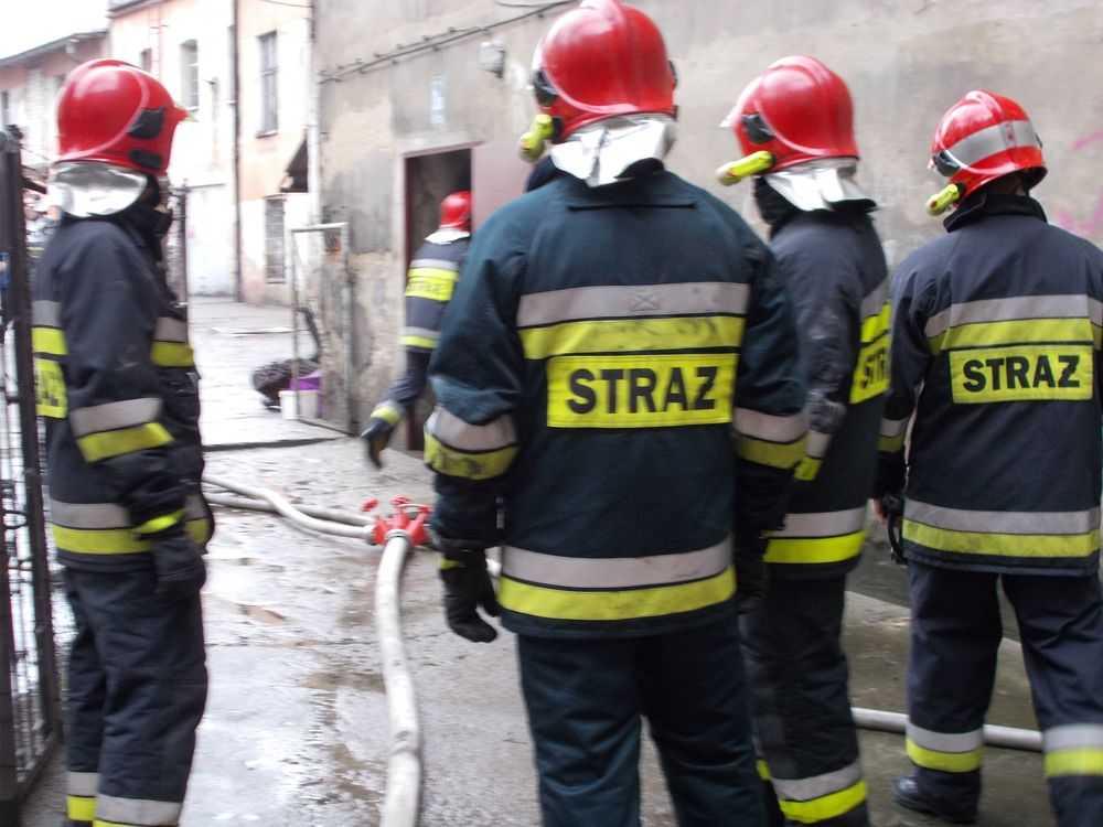 Pożar przy ul. Chrobrego w Świdnicy (FOTO)