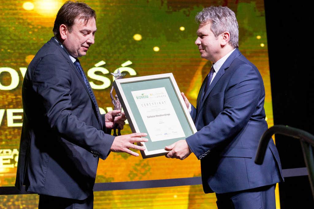 Dariusz Wesołowski - laureat nagrody Osobowość Regionu