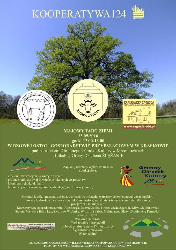 plakat Majowy Targ Ziemi