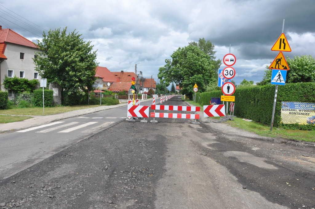 Trwa przebudowa dróg