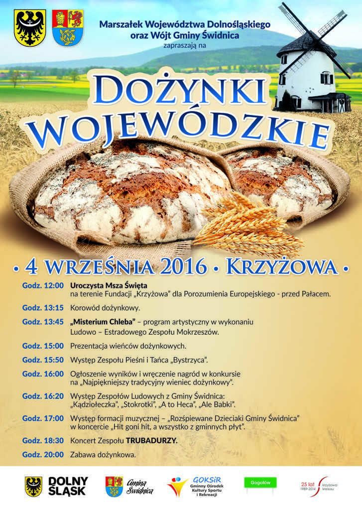 Plakat na dozynki wojewodzkie 2016