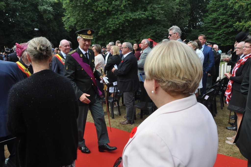 Uroczystości na cmentarzu wojskowym w Adegem odbyły się z udziałem JKM Filipa I Koburg-Króla Belgii