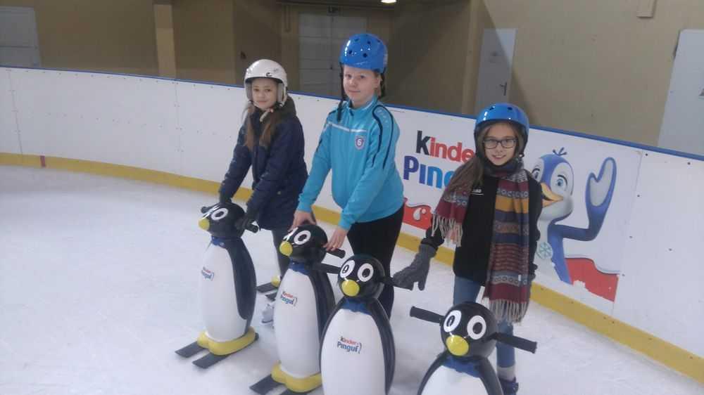 Więcej pingwinków i kasków na lodowisku!