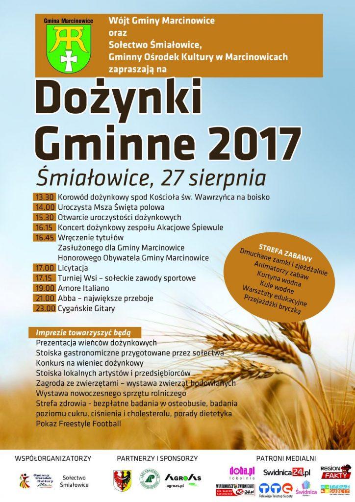 Dożynki gminy Marcinowice w Śmiałowicach – dojazd i parkingi