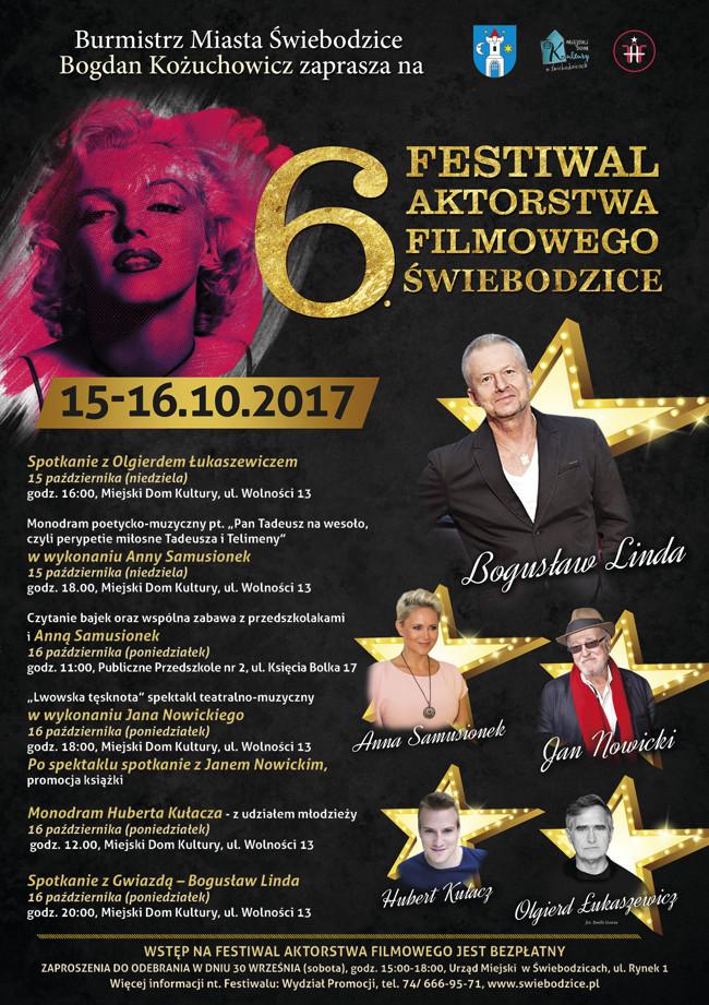 Festiwal Aktorstwa Filmowego. Do Świebodzic zjadą same gwiazdy!