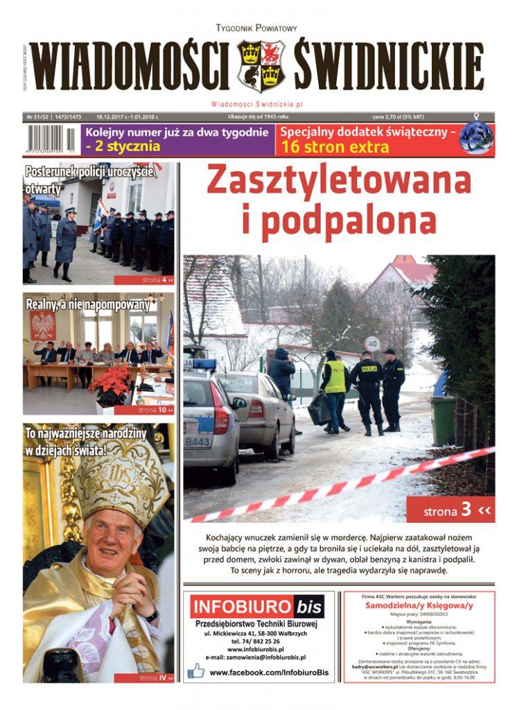 """""""Wiadomości Świdnickie"""" z dodatkiem świątecznym"""
