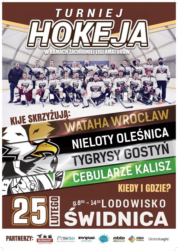 Hokej na świdnickim lodowisku!