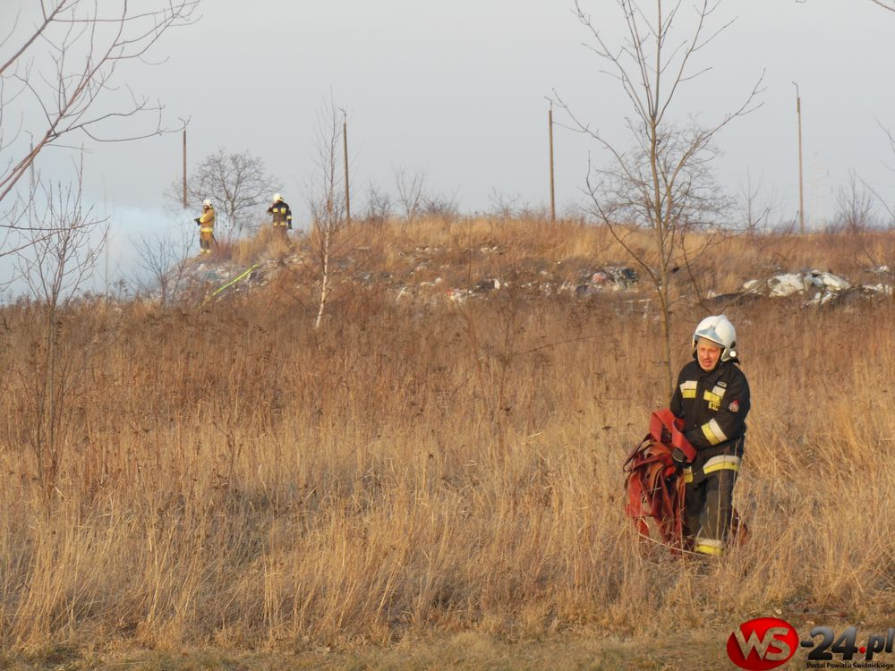 Pożar na wysypisku (FOTO)