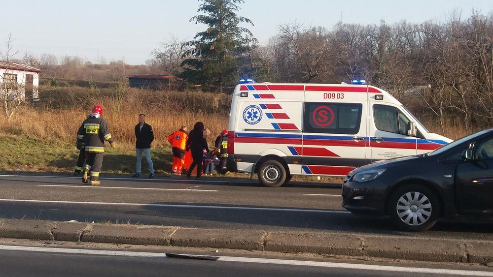 Uwaga kierowcy! Wypadek obok Świebodzic.