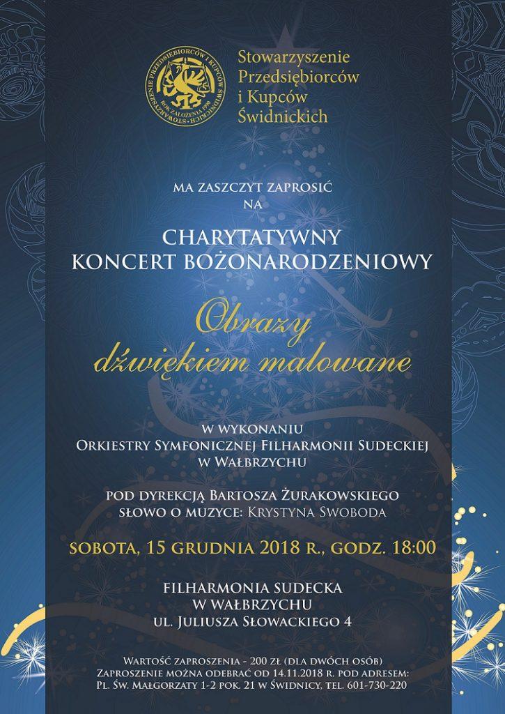 Charytatywny Koncert Bożonarodzeniowy pod patronatem Stowarzyszenia Przedsiębiorców i Kupców Świdnickich 2018
