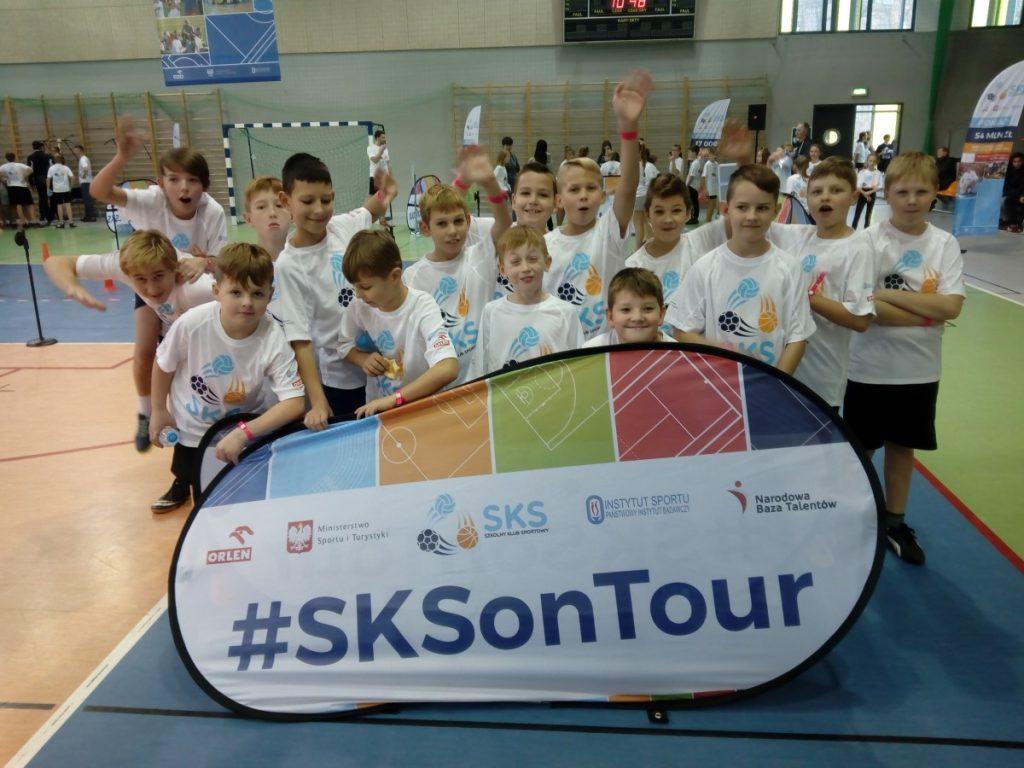 Uczniowie w SKSonTour w Oleśnicy