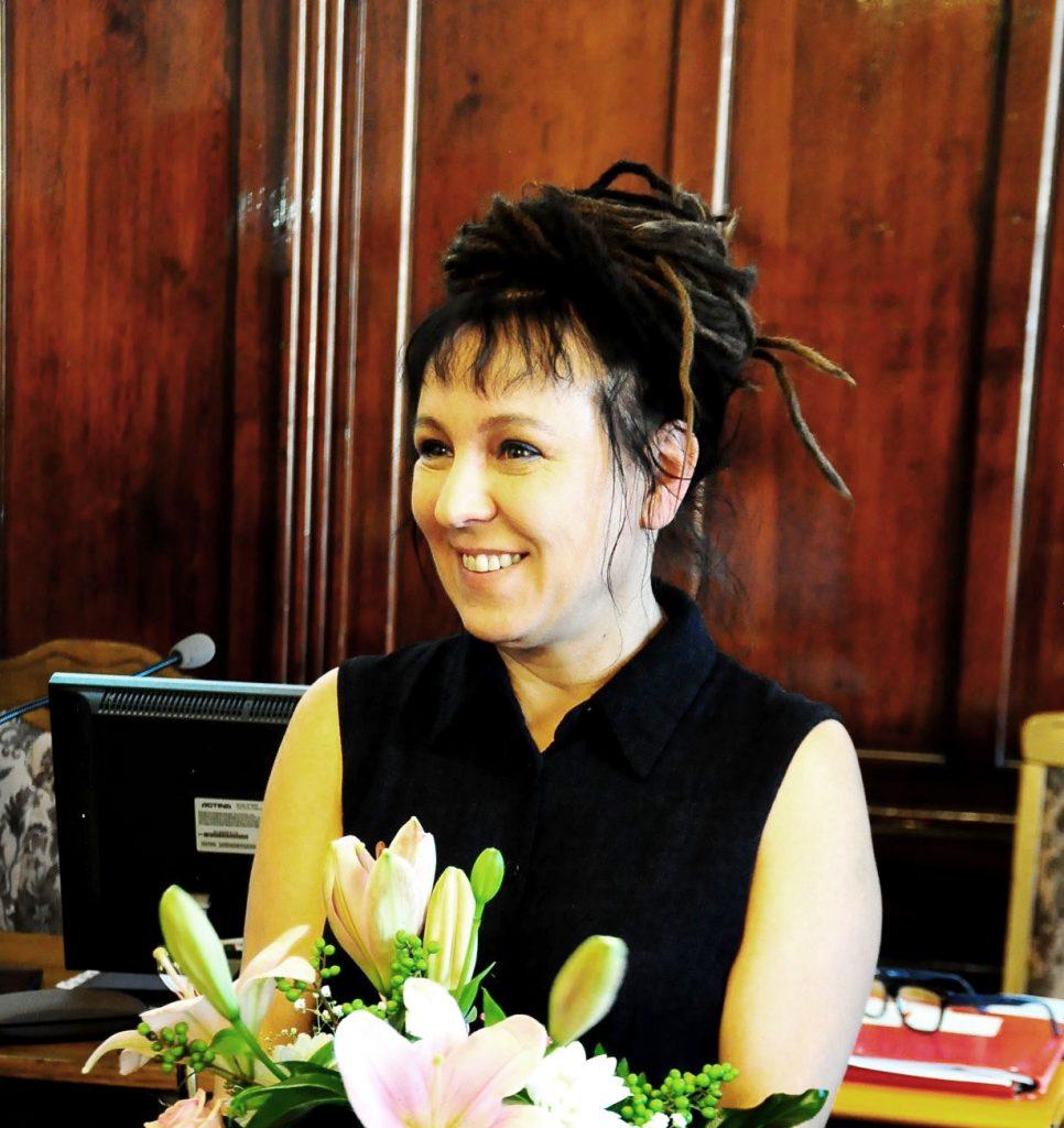 Olga Tokarczuk  z Literacką  Nagrodą Nobla